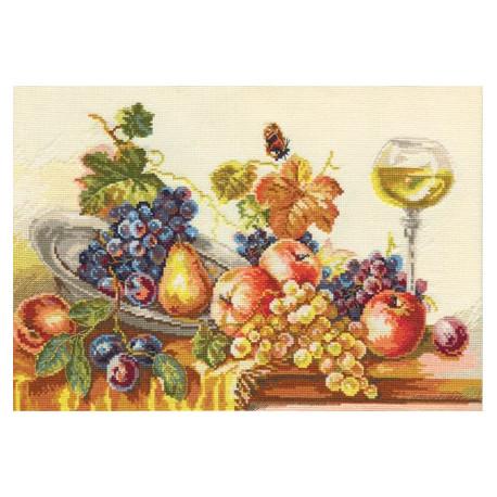 Осенний натюрморт, набор для вышивания крестиком, 38х25см, 34цвета Алиса