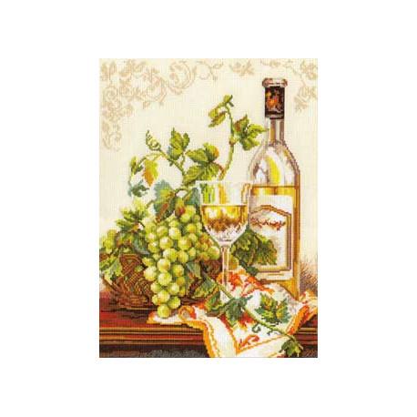 Шардоне, набор для вышивания крестиком, 27х36см, 24цвета Алиса