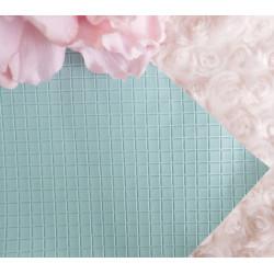 Аква в квадратик, кожа искусственная 33х69(±1см) плотность 440 г/кв.м.