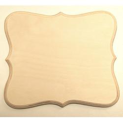 Накладка фигурная 5-03, заготовка для декорирования фанера 8мм 22х19см NZ