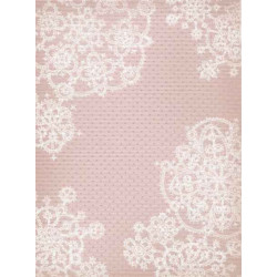 Розовый узоры, дизайнерская канва №18, 40х30см. М.П.Студия