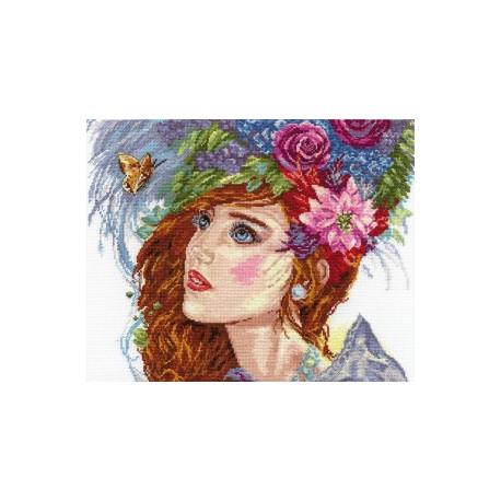 Пробуждение Весны, набор для вышивания крестиком, 33х26см, 36цветов Алиса