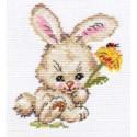Зайка, набор для вышивания крестиком, 10х12см, 12цветов Алиса