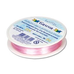 Бело-розовый, спандекс без оплетки d 1 мм  18 м, GAMMA