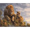 Король Лев, раскраска по номерам на холсте 40х50см 24цв Планета Картин