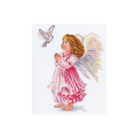 Благослови, набор для вышивания крестиком 18х24см 17цветов Алиса