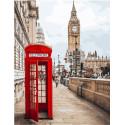 Лондон Биг-Бен, раскраска по номерам на холсте 40х50см 28цв Планета Картин