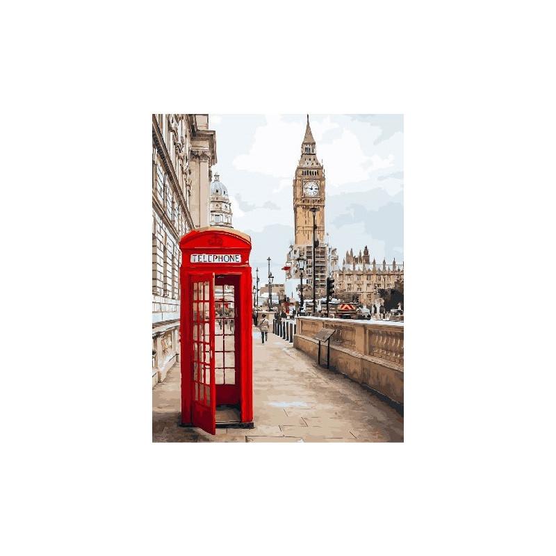 Лондон Биг-Бен, раскраска по номерам на холсте 40х50см ...
