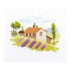 Тоскана, набор для вышивания крестиком, 8х6см, 11цветов Алиса