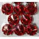 Красный, стразы в цапах круглые 11мм, 10шт