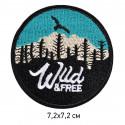 Wild&Free, 7,2х7,2см, аппликация на клеевой основе
