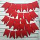 Флажок красный, заготовка для гирлянды 5,7х8,7см картон 250г/м 30шт ЛЗ