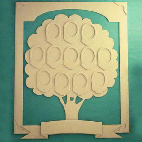 Набор для создания фамильного древа, вырубка картон 1,5мм ЛЗ