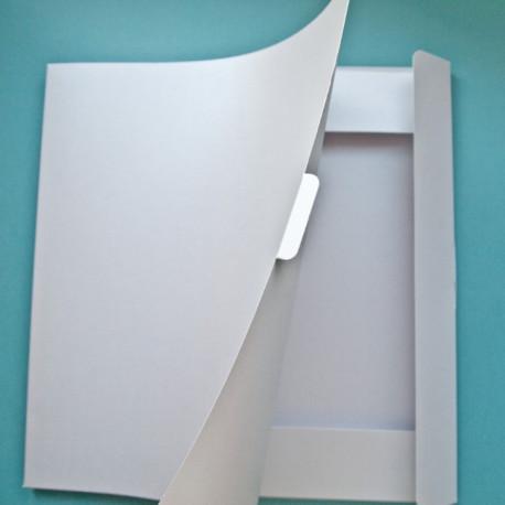 Папка для хранения скрапбумаги Белый перламутровый 31х32см картон ЛЗ
