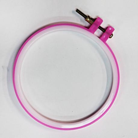 Пяльцы круглые, цветные d12.5см пластик с регулировочным винтом N