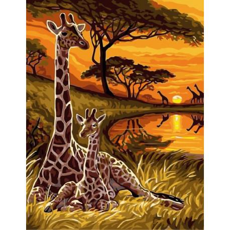 Африка, картина по номерам на холсте 30х40см 21цв Original
