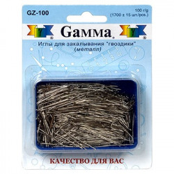 """Иглы для закалывания """"гвоздики"""" в пластиковой коробке со спонжем 1700шт, GAMMA"""