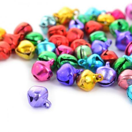 Цветные, бубенчики 8мм 100шт