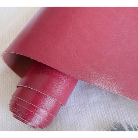 Темно красный, переплетный кожзам Nebraska для скрапбукинга 33х70(±1см) Италия