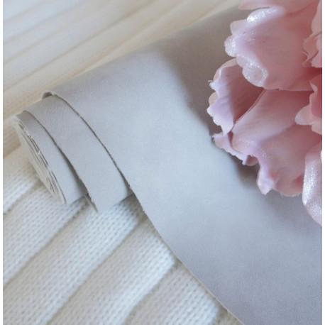 Серый, кожзам Soft touch для скрапбукинга 33х70(±1см) толщина 0,8мм