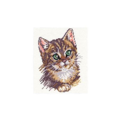 Котенок, набор для вышивания крестиком, 14х18см, 11цветов Алиса