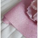 Розовая, глиттерная ткань для творчества 33х70(±1см)