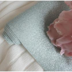Аква, глиттерная ткань для творчества 33х70(±1см)