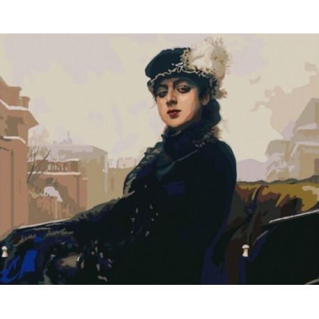Неизвестная (Крамской) , картина по номерам на холсте 40х50см 32цв Original