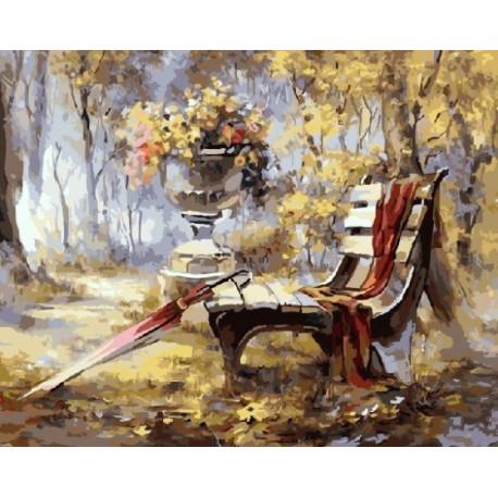 Осень, картина по номерам на холсте 40х50см 27цв Original
