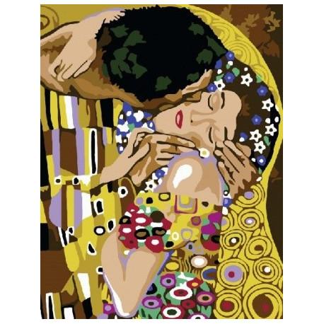 Поцелуй (Климт), картина по номерам на холсте 40х50см 16цв Original