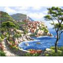 Солнечная бухта, картина по номерам на холсте 40х50см 30цв Original