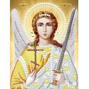 Ангел Хранитель в белом, ткань с рисунком для вышивания бисером (в наборе бусины и стразы) 13х17см