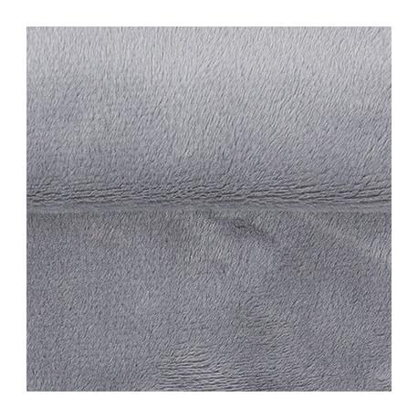 Серый, плюш корейский ФАСОВКА 48х48(±1см), 273г/кв.м 100%полиэстер PEPPY