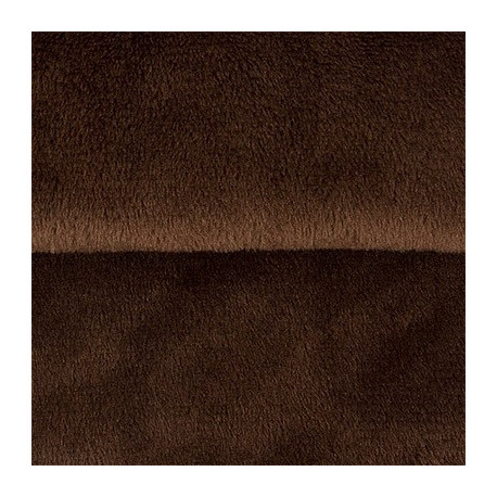 Т.коричневый, плюш корейский ФАСОВКА 48х48(±1см), 273г/кв.м 100%полиэстер PEPPY