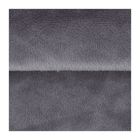 Т.серый, плюш корейский ФАСОВКА 48х48(±1см), 273г/кв.м 100%полиэстер PEPPY