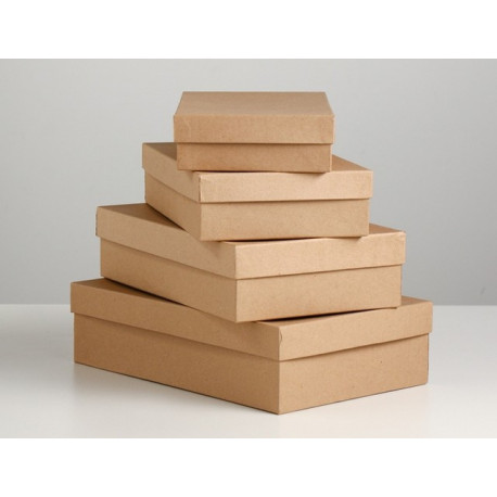 Прямоугольная коробка картонная крафт 26*16*6см