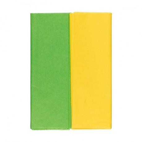 Желтый/зеленый, набор бумаги тишью10 листов 50х70см