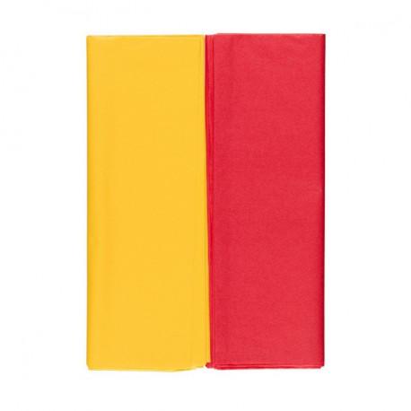 Желтый/красный, набор бумаги тишью 10 листов 50х70см