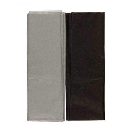 Черный/серый, набор бумаги тишью 10 листов 50х70см