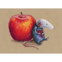 Влюбился мышь однажды, набор для вышивания крестиком, 15,5х13см, мулине DMC хлопок PTO