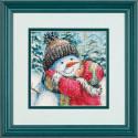 Поцелуй для снеговика, набор для вышивания крестиком, 13х18см, 25цветов Dimensions