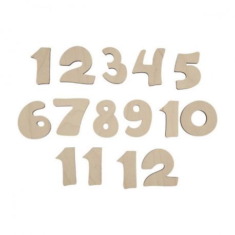 Цифры 1-12, заготовка для декорирования фанера 3мм 40см Mr.Carving