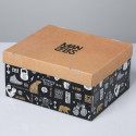 Брутальность, коробка складная 31,2х25,6х16,1см картон АУ