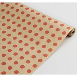 Горох красный, крафт бумага упаковочная 100х70см SL