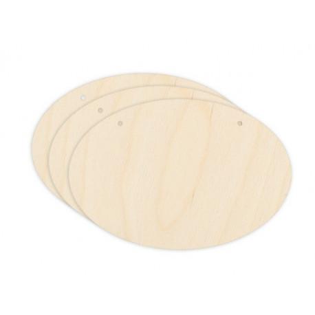Овальные панно 3шт, заготовка для декорирования фанера 3мм 12,5см Mr.Carving