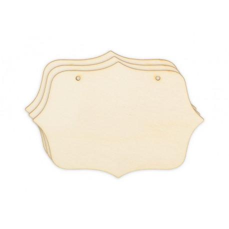 Резные панно 3шт, заготовка для декорирования фанера 3мм 12,5х8,5см Mr.Carving