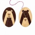 Медведи, двусторонний магнитный держатель для игл фанера 3,5см ВС