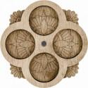 Цветок, органайзер для бусин и бисера с магнитом 4ячейки 9,5х9,5см фанера ВС