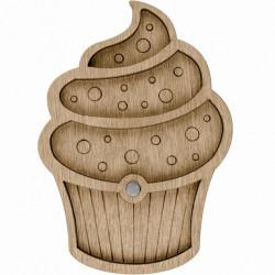 Пирожное, органайзер для бусин и бисера с магнитом 4ячейки 8,5х12см фанера ВС