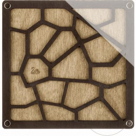Геометрия, органайзер для бусин и бисера с прозрачной крышкой 19ячеек 14х14см фанера ВС
